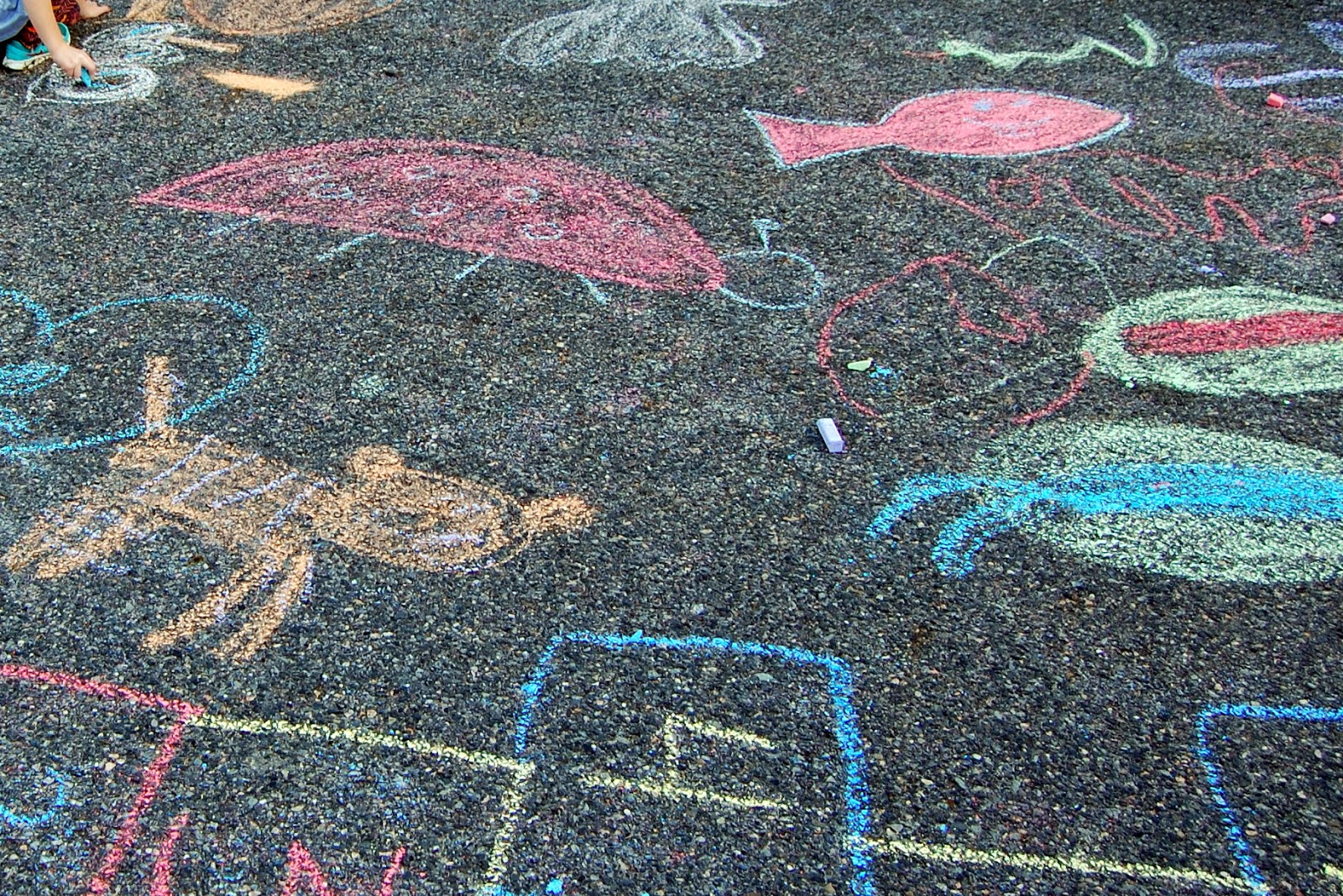 chalk was available to be creative