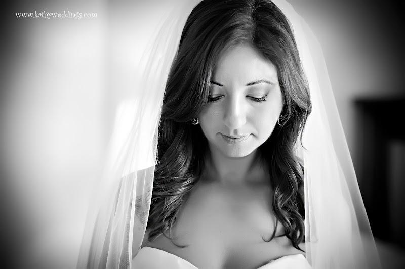 bridal portrait in black and white, DAR constitutuon hall