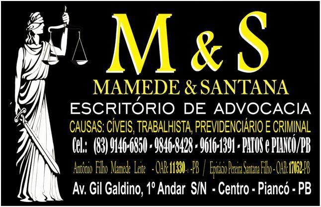 MAMEDE & SANTANA ADVOGADOS/9146-6850/9616-1391
