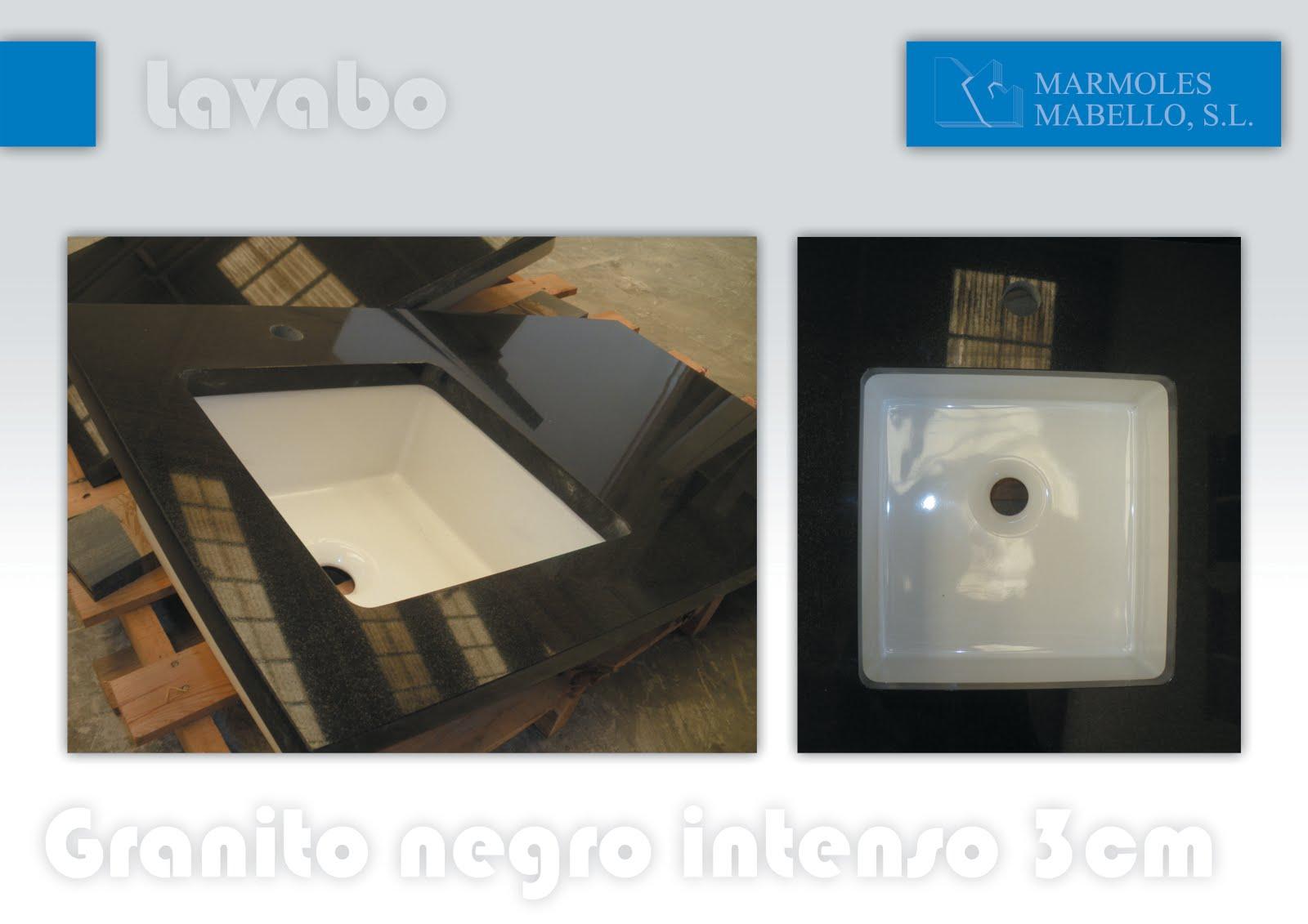 M rmoles mabello lavabos de granito negro intenso pulido for Granito negro intenso