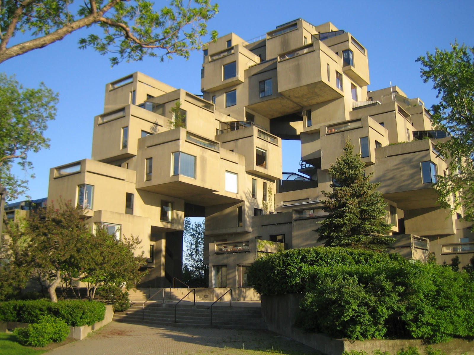 Habitat 67 3 by moshe safdie cube modern architecture for Residential pictures