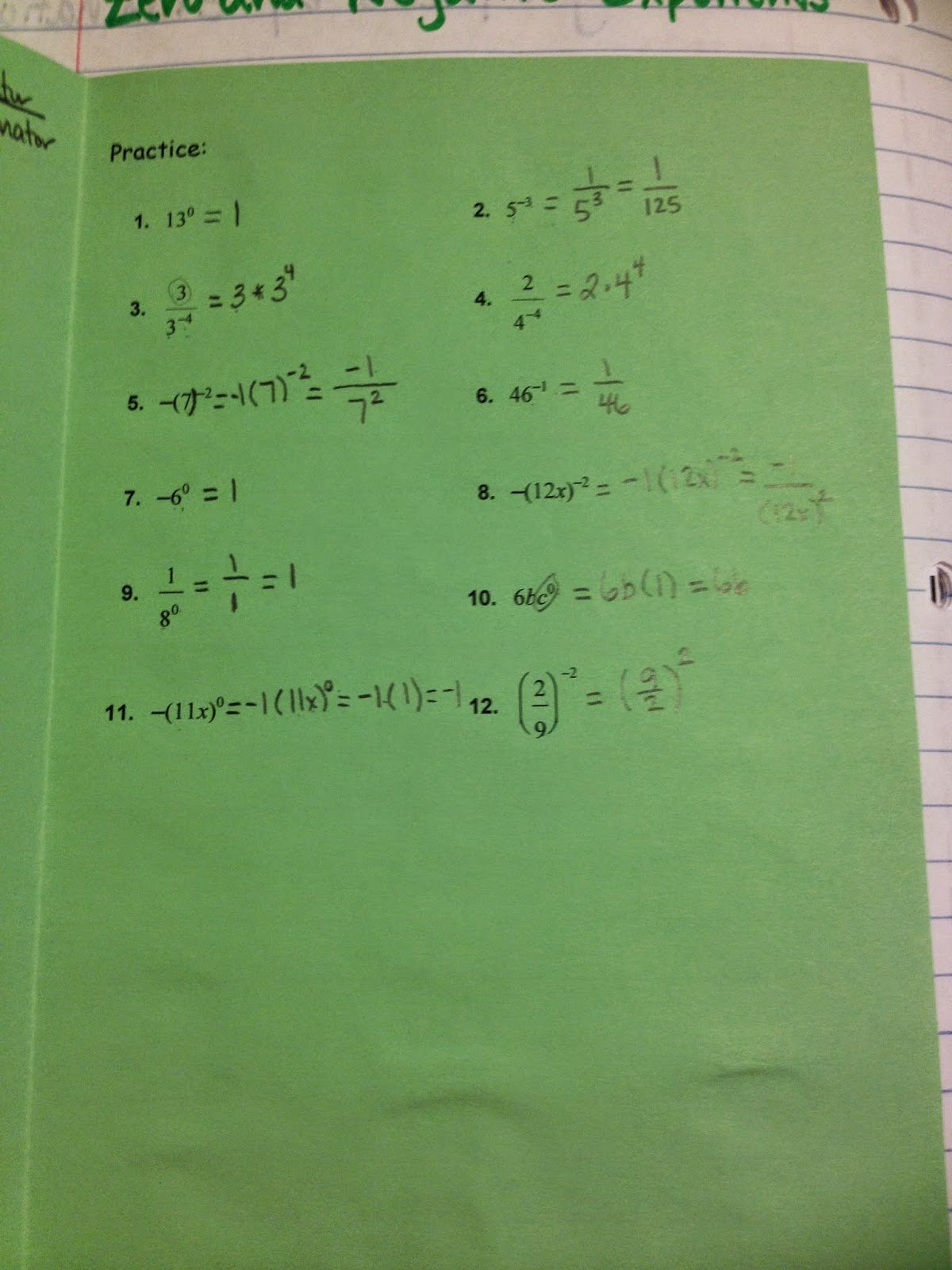 Making Mathematics Magical Rules of Exponents Interactive – Exponent Rules Practice Worksheet