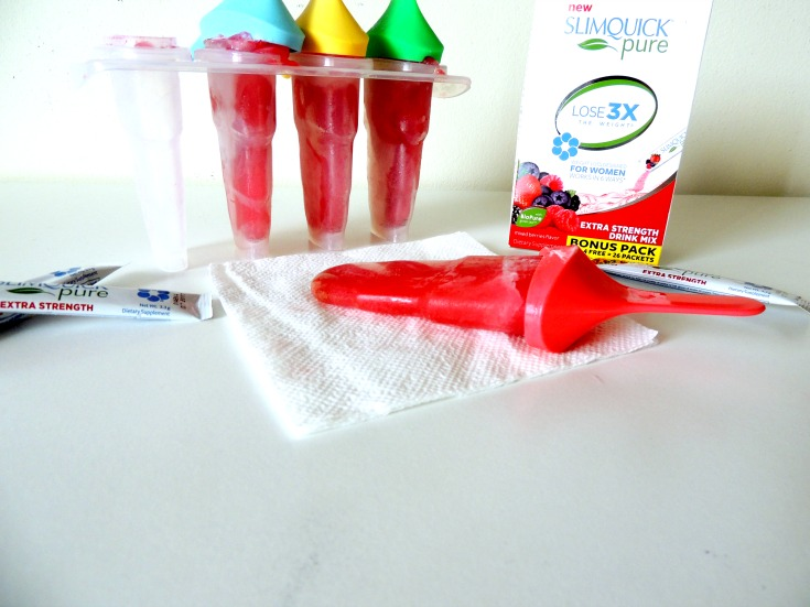 Slimquick Pure Drink Mix popsicles