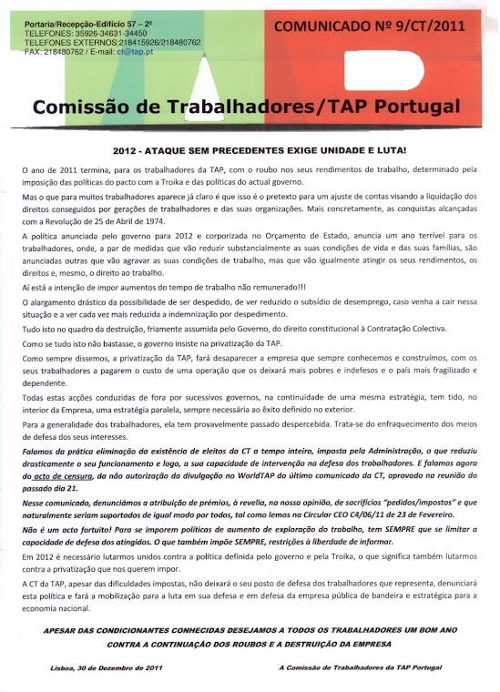 Comunicado 09/2011