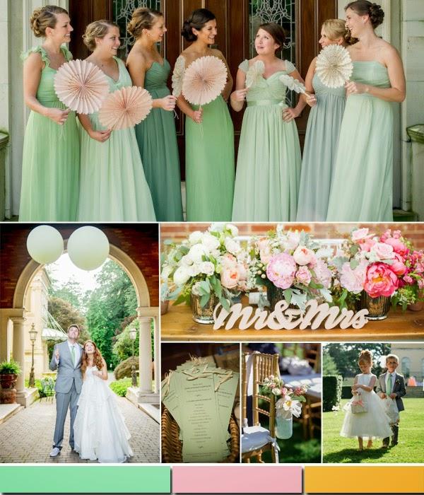 цветове за пролетни сватби