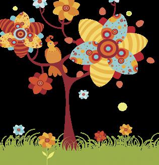 Весеннее книжное дерево