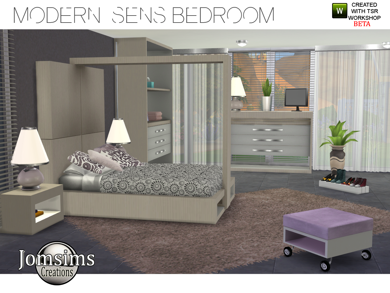 Living room curtains with rings - My Sims 4 Blog Modern Sens Bedroom Set By Jomsims