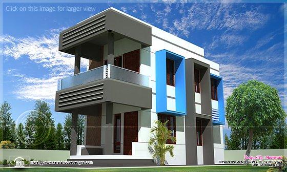 Contemporary Compact Villa Design House Design Plans