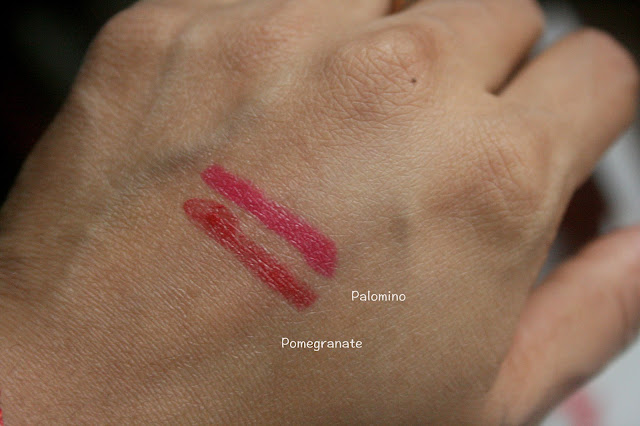 Bite Beauty Mix and Mingle Luminous Creme Lipstick Duo in Palomino and Pomegranate Swatch