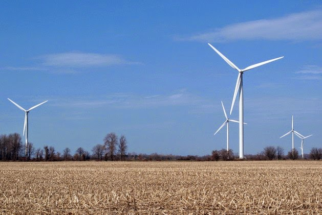 Canada's Erie Shores Wind Farm includes 66 turbines with a total capacity of 99 MW. (Credit: Denise Morazé/IPS) Click to Enlarge.