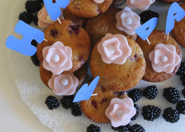 blackberry muffin per il compleanno di mamma