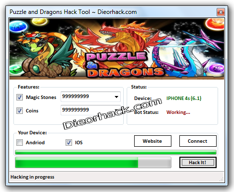 Puzzle and Dragons Hack Tool Unlimited Magic stones Unlimited Coins