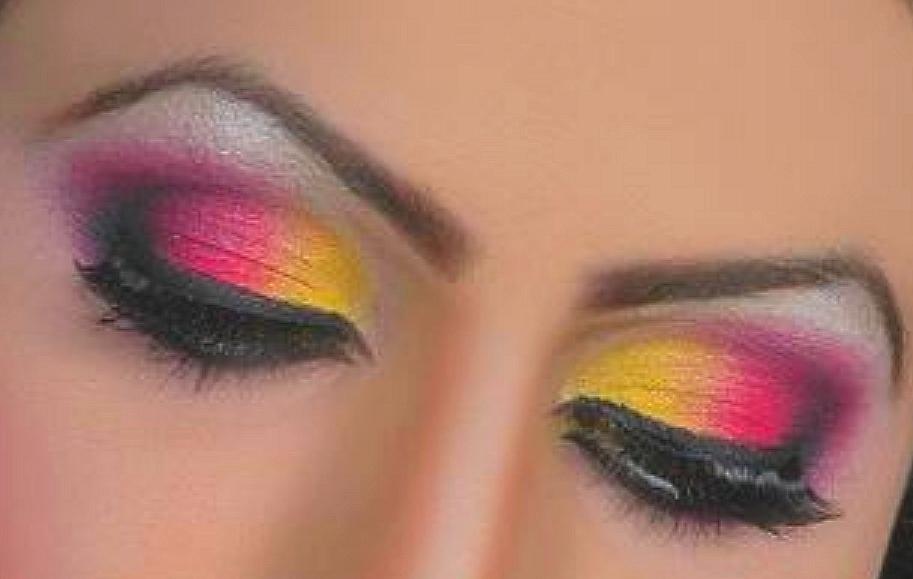 Арабский макияж коричневый