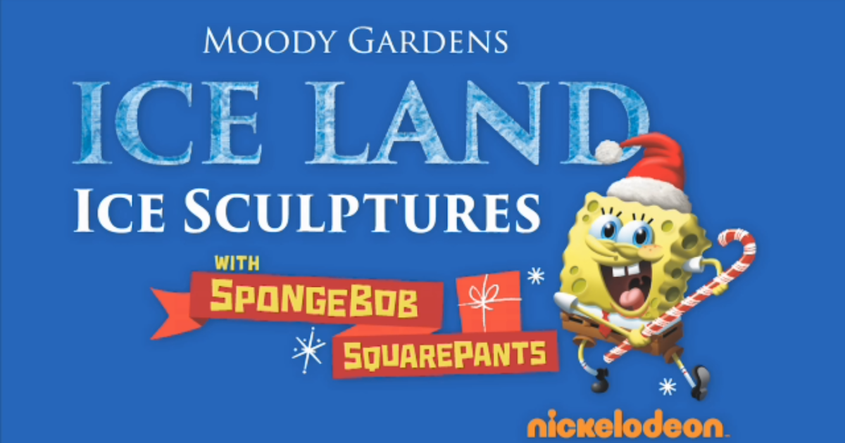 Nickalive Brand New Ice Land Ice Sculptures With Spongebob Squarepants To Debut At Moody