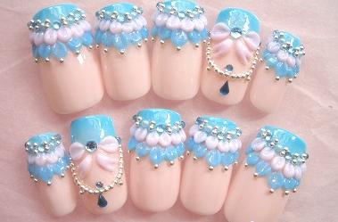 Stylish Crazy 3d Nail Designs