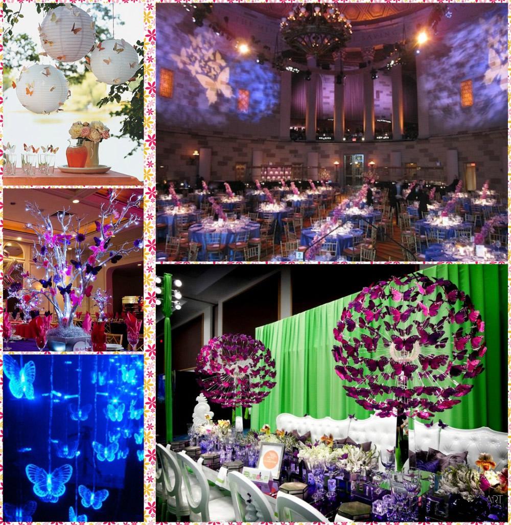 Inolvidables 15 fiesta tem tica mariposas - Mariposas decoracion pared ...