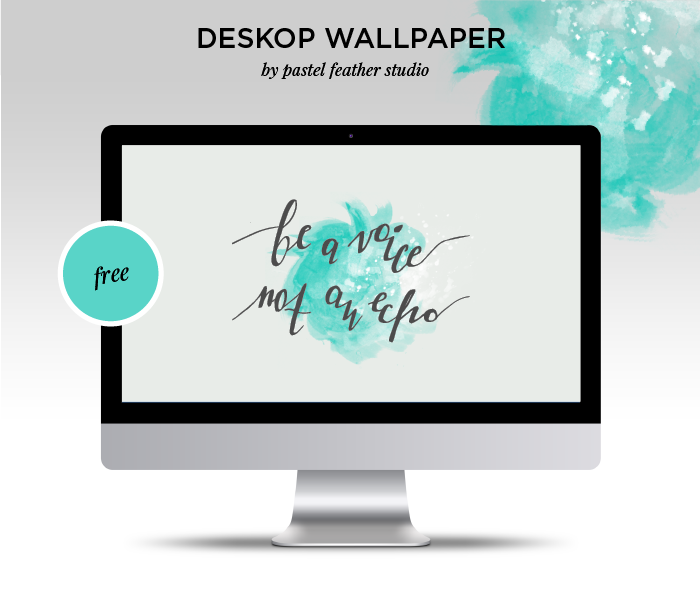 free calligraphy and watercolor wallpaper pastel feather studio