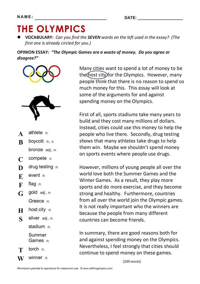 different types of sports essay As gowning up i was always around sports, for that fact always around many different sports, and one thing that i noticed in each sport is that the interaction.