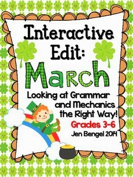 http://www.teacherspayteachers.com/Product/Interactive-Edits-for-March-Looking-at-Grammar-and-Mechanics-the-Right-Way-1036377
