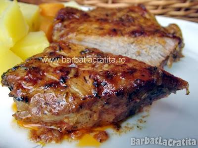 Friptura de porc la cuptor reteta