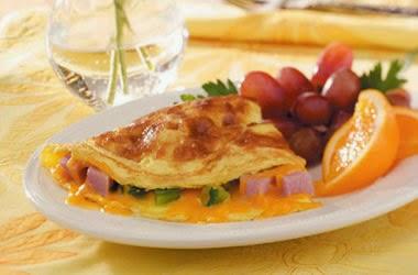 Omelette keju