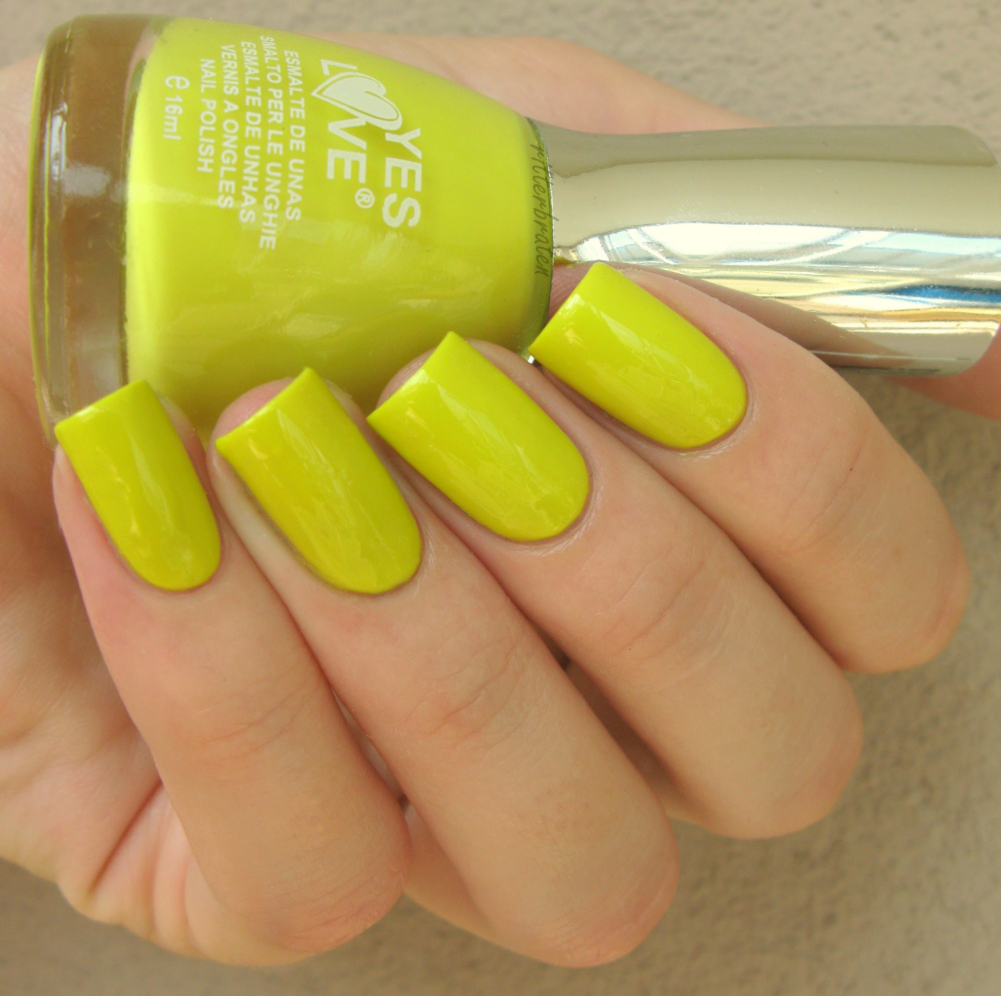 bright lime nail polish