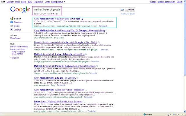 SERP SEO Google - Pentingnya Keyword di Judul Blog - Posting