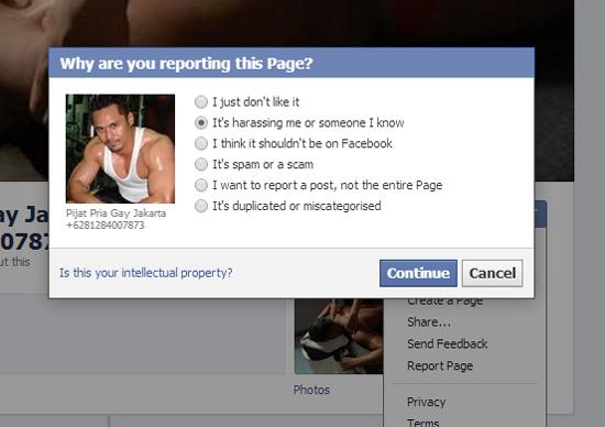 Cara Laporkan Akaun Facebook Palsu