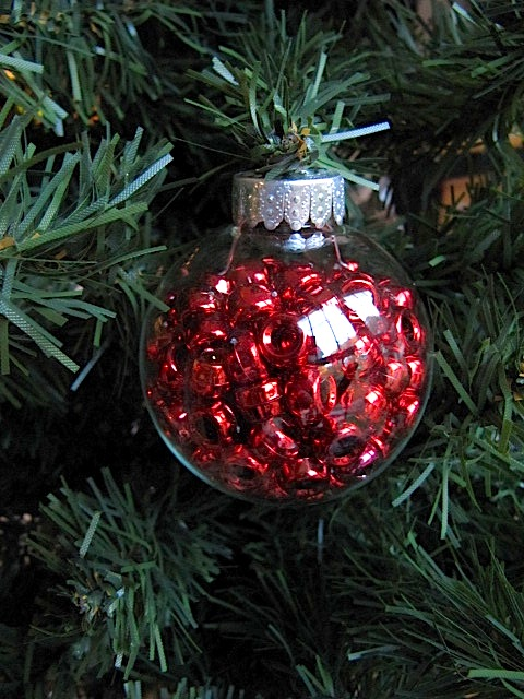 Sew many ways fillable glass christmas ornaments