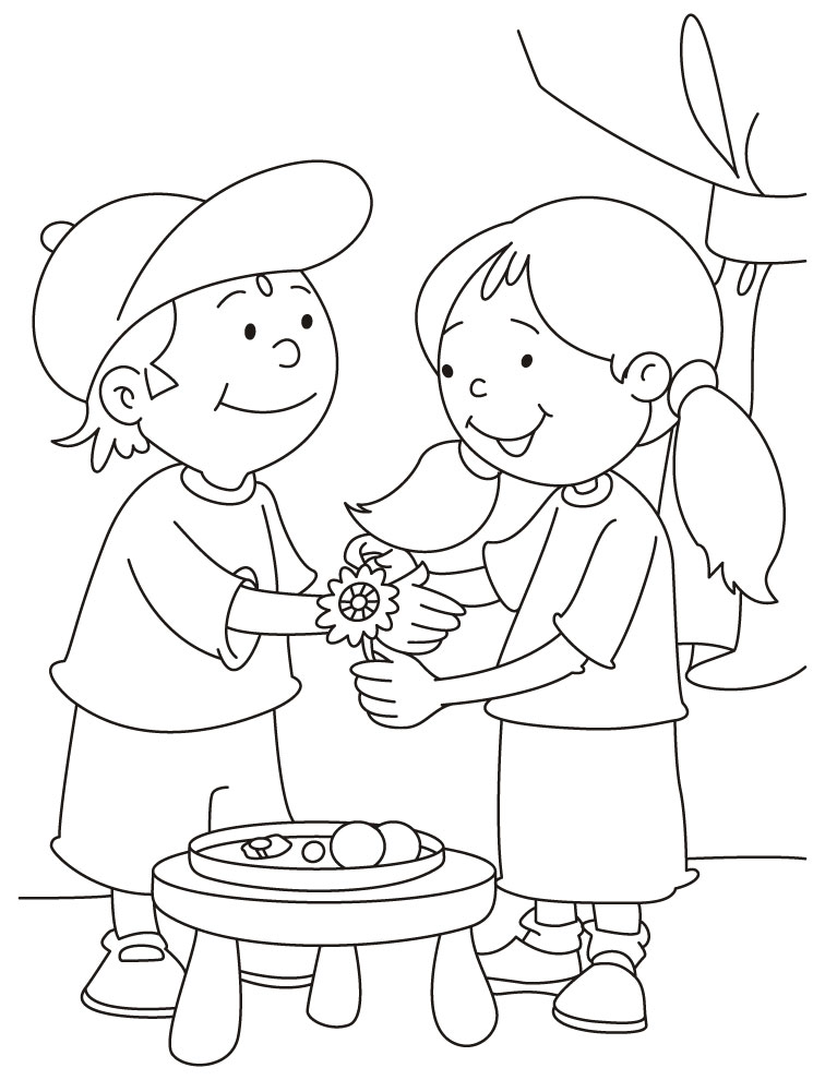 coloring pages of sisters - photo#29