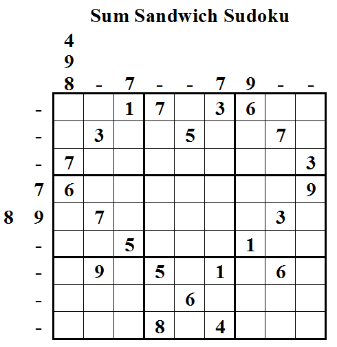 Sum Sandwich Sudoku (Daily Sudoku League #7)