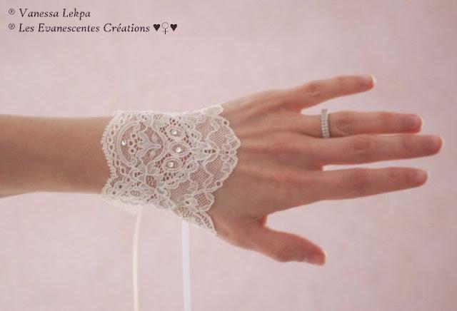 accessoire de mariage et gants de pariée en dentelle de Calais par la créatrice Vanessa Lekpa