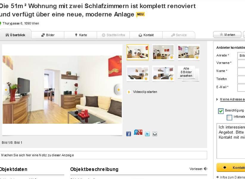 die 51m wohnung mit zwei schlafzimmern ist komplett renoviert und verf gt ber eine neue. Black Bedroom Furniture Sets. Home Design Ideas