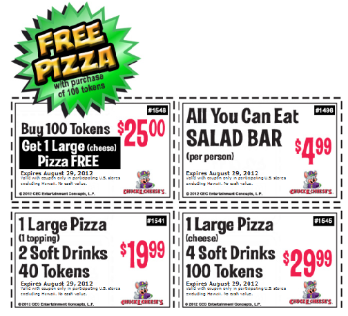 Chuck e cheese coupons party 2018 Beaver coupons