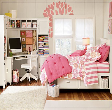 42 teen girl bedroom ideas room design inspirations - Girl teenage room designs ...