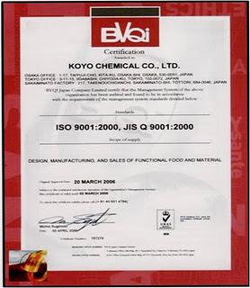 ISO 9001:2000, JIS Q 9001:2000