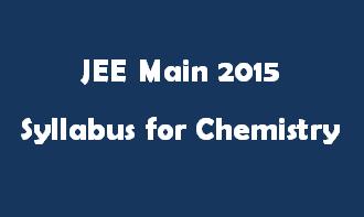 JEE Main 2015 Syllabus for Mathermatics