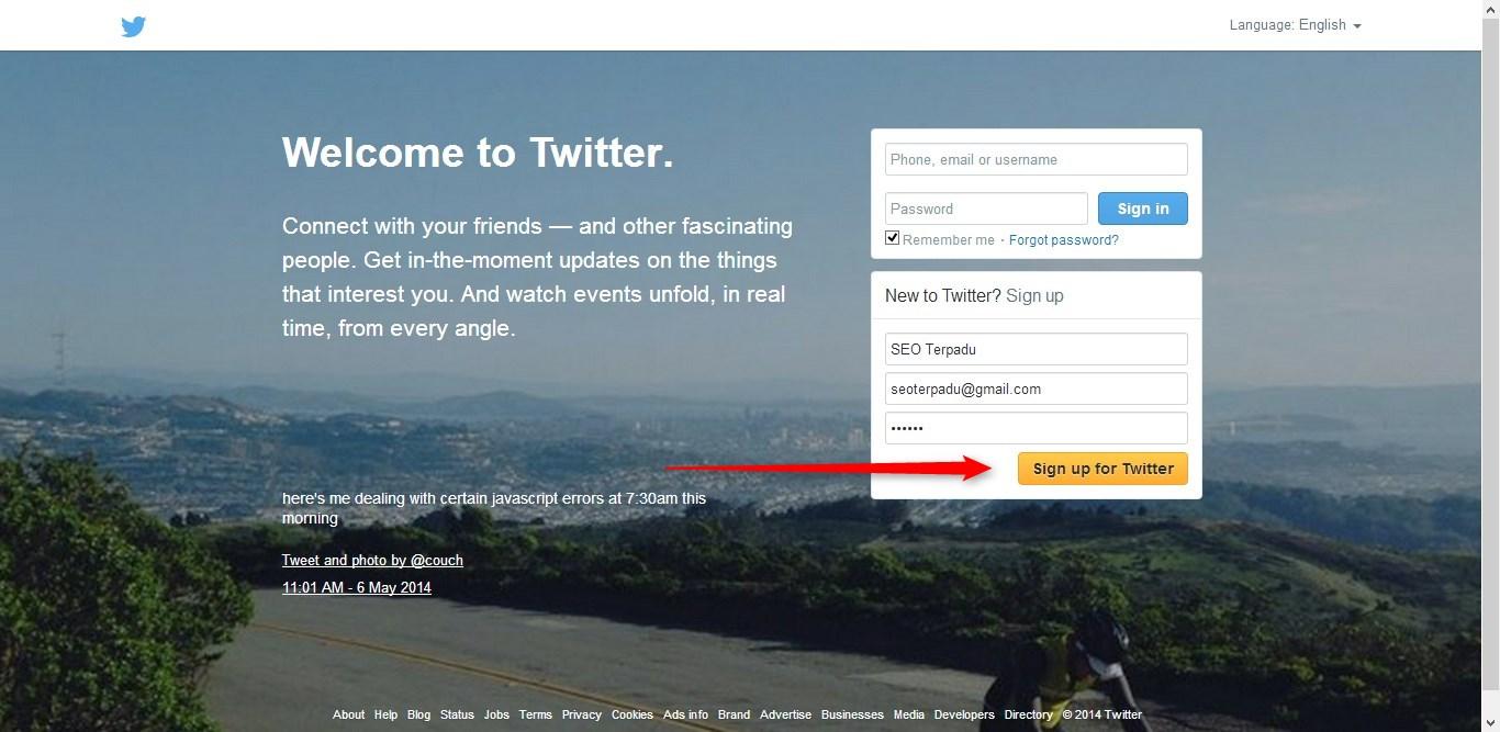 Cara Membuat Twitter 1