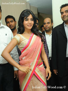 Samantha Ruth Prabhu Latest Cute Pink Half Saree Photos Pics