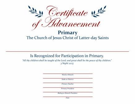 Just Another Idea: Primary Graduation Certificates