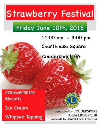 6-10 Strawberry Festival, Coudersport