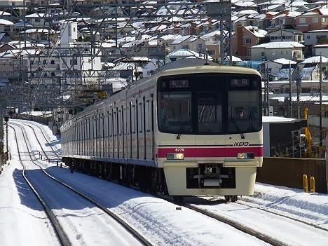 京王電鉄 各停 高尾行き3 8000系(2014大雪のため日中運行)