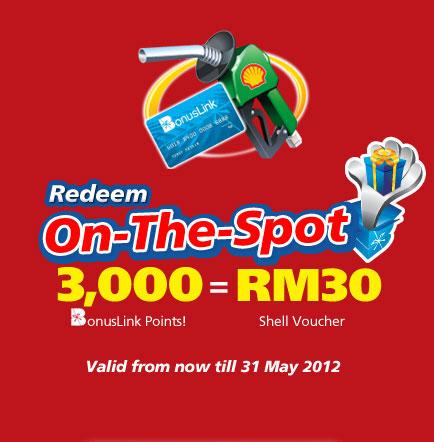 Tebus Petrol Shell Bernilai RM30 Dengan Bonuslink