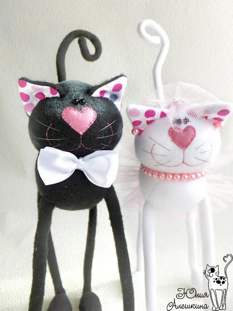 Свадебные котики. Горошковые ушки - двое