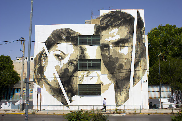 "iNO is back on the streets of Athens in Greece where he just finished working on a brand new piece entitled ""Random Future""."
