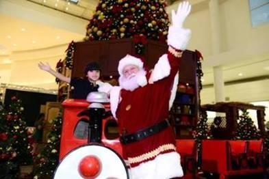 Decoração de Natal no Shopping Grande Rio