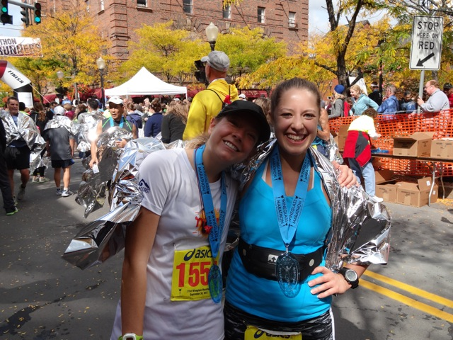 Laura and I at the finish of the Wineglass Marathon in 2012 - her first marathon, and a PR for me!
