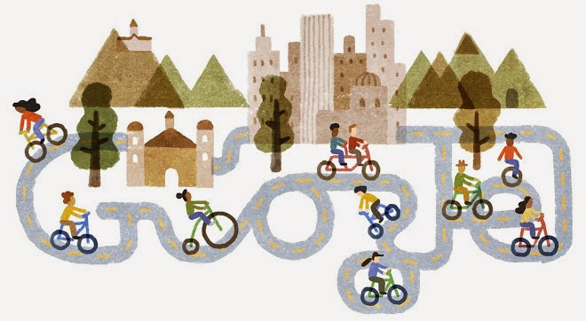 40th anniversary of the Cycleway program Google Doodle