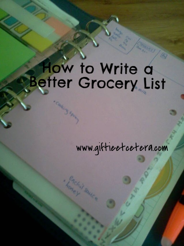 grocery list, planner