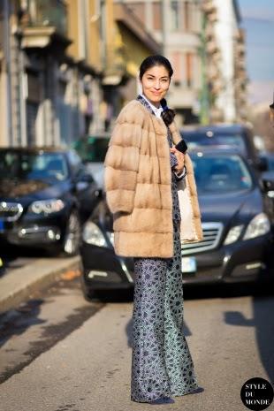Pantalones de campana estampados street style 2015
